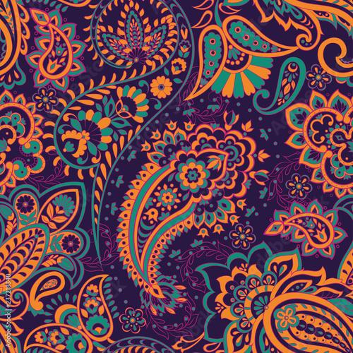 paisley-kwiatowy-ilustracji-wektorowych-w-stylu-adamaszku-bezszwowe-tlo