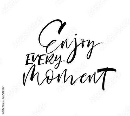 Enjoy every moment card Canvas Print