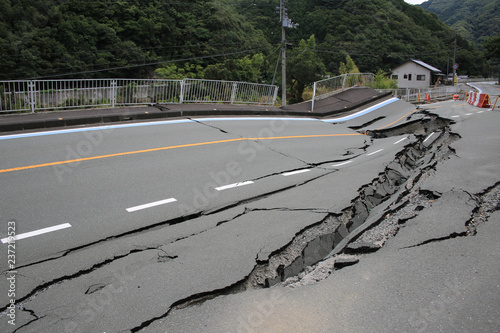 Photo 災害:道路崩壊