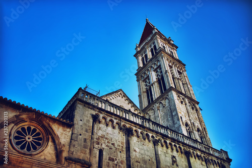 Photographie  Trogir st lawrence church tower in summen evening