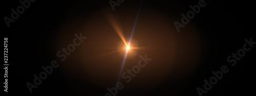 Obraz lights optical lens flares shiny - fototapety do salonu