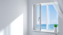 White Plastic Window In The Room