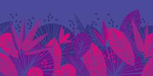 Tropical Leaves Color Illustration