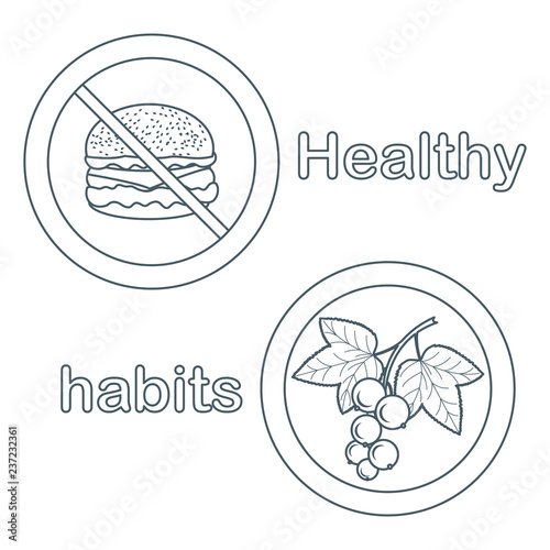 Fotografia  Proper nutrition with excess weight and obesity.