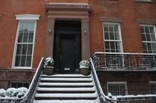 Manhattan Street View After A Snowstorm, New York City