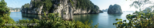 Halong Bucht in Vietnam Panorama