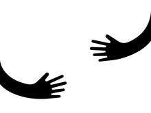 Human Hands Holding Or Embracing Something Logo Sign