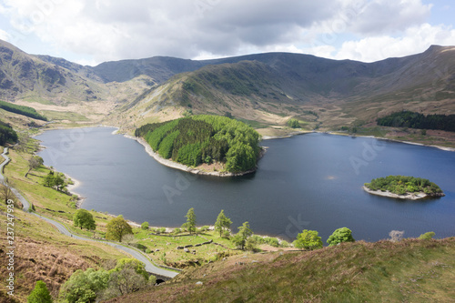 Spoed Foto op Canvas Eiland Looking down on Haweswater, Mardale Head and Riggindale in the Eastern English Lake District