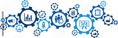 Fototapety, obrazy: product management / product development / product marketing – vector illustration