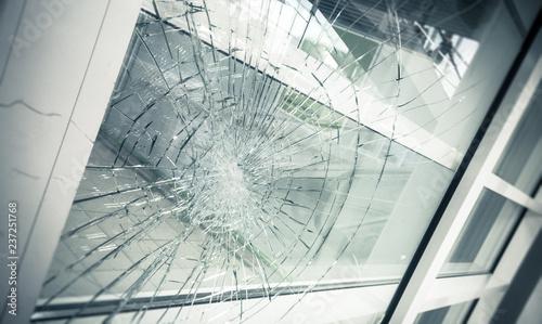 Cuadros en Lienzo broken facade glass