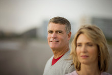 Smiling Mature Man With His Wife.