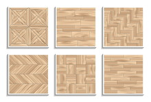 Set Of Seamless Parquet Textur...