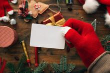 Christmas Business Card Mock Up