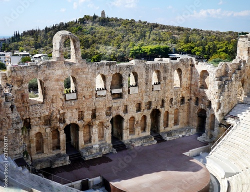 Fotografie, Obraz  Odeon of Herodes Atticus or Herodeon, Ancient Stone Theatre, Athens, Greece