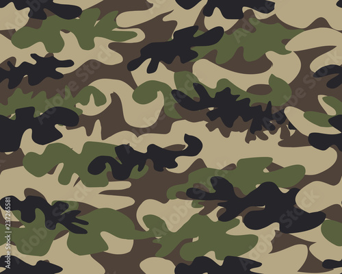 Camouflage pattern background seamless vector illustration Canvas Print