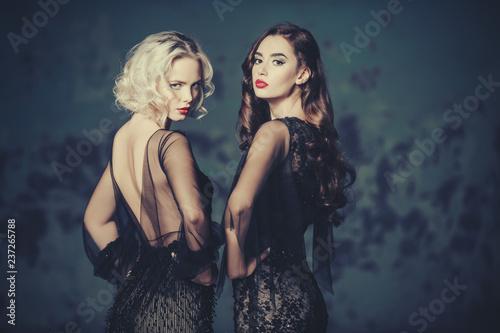 Fotografie, Obraz  attractive women in dresses