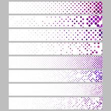 Banner Background Design Set - Abstract Vector Rectangular Dot Pattern Template