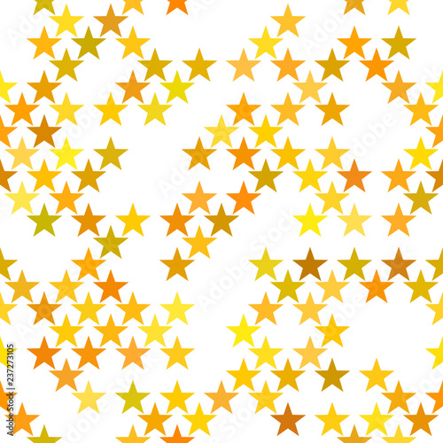 Fotografie, Obraz  Seamless geometric pentagram star pattern - vector background design