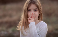 Cute Little Child With Finger ...