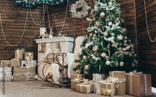 Outstanding Cozy Christmas Photo Christmas Decorations Rocking Chair Machost Co Dining Chair Design Ideas Machostcouk
