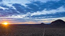 Mojave Desert Mountains Sunset