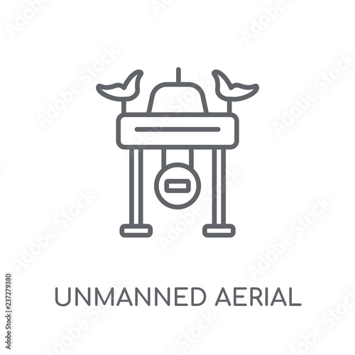 Photo  Unmanned aerial vehicle linear icon