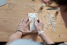DIY Linoleum Stamping