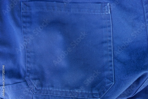 Fotografía  blue fabric texture of the pants with a pocket