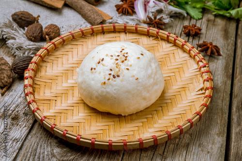 Bao bun on plate