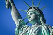 Closeup Of The Statue Of Liberty, New York City, USA