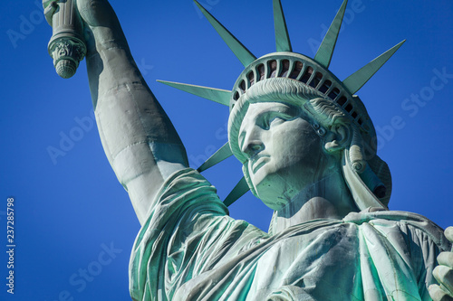 Fotografia  Closeup of the Statue of Liberty, New York City, USA