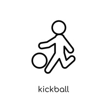 Kickball Icon. Trendy Modern F...