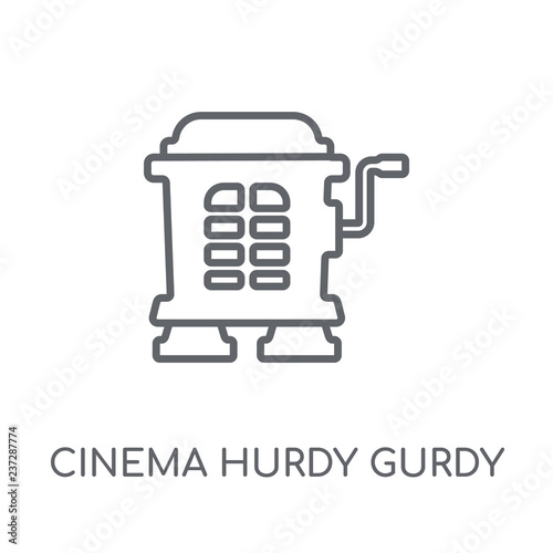 Fototapeta cinema hurdy gurdy linear icon