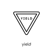 Yield Sign Icon. Trendy Modern...