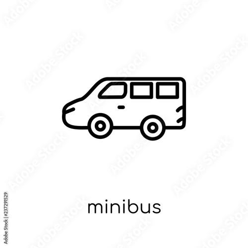 Fotografie, Obraz  Minibus icon from Transportation collection.