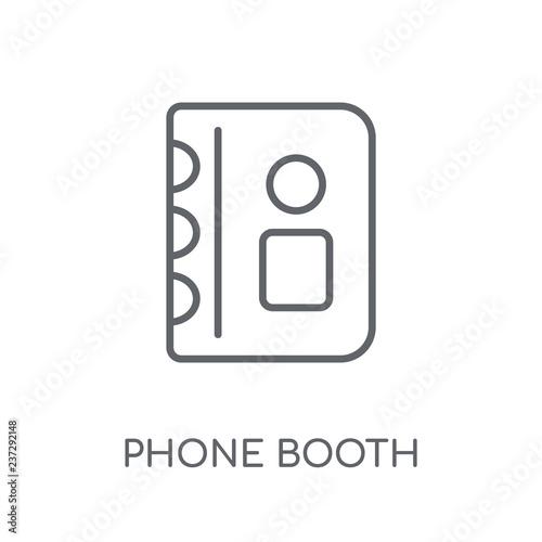 Fotografie, Obraz  Phone booth linear icon