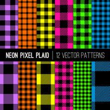 Classic Neon Colors Buffalo Ch...