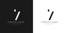 7 Logo Numbers Modern Black And White Design