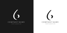6 Logo Numbers Modern Black And White Design