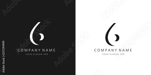 Papel de parede  6 logo numbers modern black and white design
