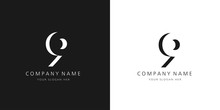9 Logo Numbers Modern Black And White Design