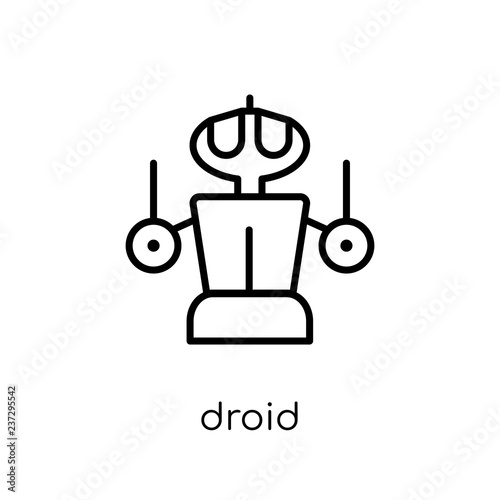 Fotografie, Obraz  Droid icon from Science collection.