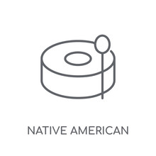 Native American Drum Linear Ic...
