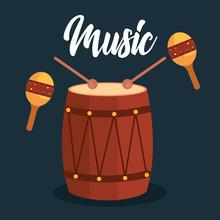 Bongo And Maracas Tropical Instruments
