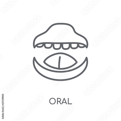 Fotografie, Obraz  Oral linear icon