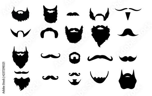 Cuadros en Lienzo Set of 20 Beards & Mustaches
