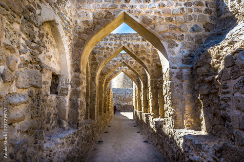 Obraz na plátne  The Qal'at al-Bahrain, also known as the Bahrain Fort or Portuguese Fort, is an