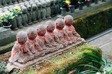 Stone Jizo Buddha Statue At Ha...