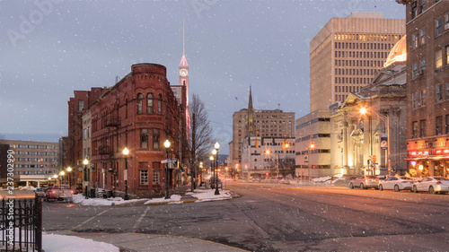 Valokuvatapetti Downtown Utica (Historic Register Place)