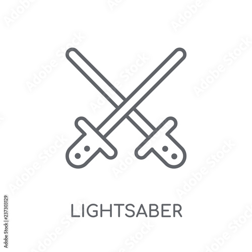 Photo  Lightsaber linear icon